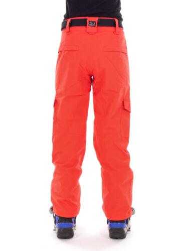 O /'Neill Sci Snowboard Pantaloni Pantaloni caldi star rosso cintura resistente all/'acqua