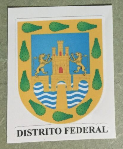 Distrito Federal Mexico Coat Of Arms Stickers Full Color//Weather Proof PCS 2