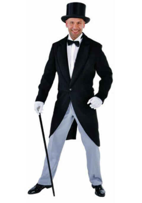 Deluxe Victorian BLACK Tailcoat Jacket - Heavy , like Wool - Gents