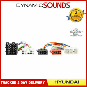 CT10HY01 Parrot SOT T-Harness ISO Wiring Loom Lead for Hyundai H1 Upto 1998