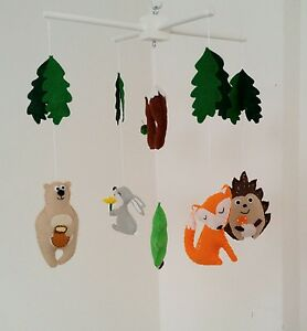 Woodland baby mobile forest animals nursery mobilemade to order - <span itemprop=availableAtOrFrom>Dagenham, United Kingdom</span> - Woodland baby mobile forest animals nursery mobilemade to order - Dagenham, United Kingdom
