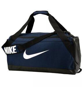 Details about *NEW* Nike Brasilia Gym Duffel Sports Bag In Navy Blue Medium