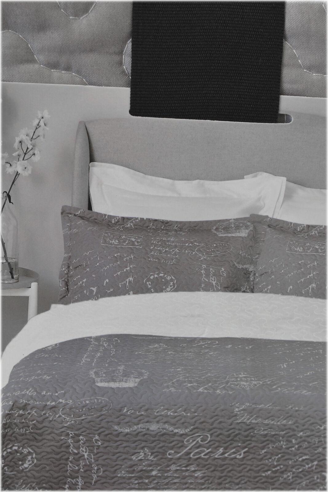 Paris French Design grau Beige Beige Beige 3 Piece King Größe Quilt Set (1 Quilt & 2 Shams) 54304a