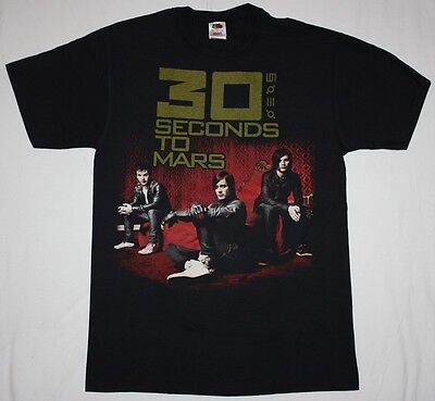 30 SECONDS TO MARS BAND JARED LETO ALTERNATIVE ROCK EMO NEW BLACK T-SHIRT