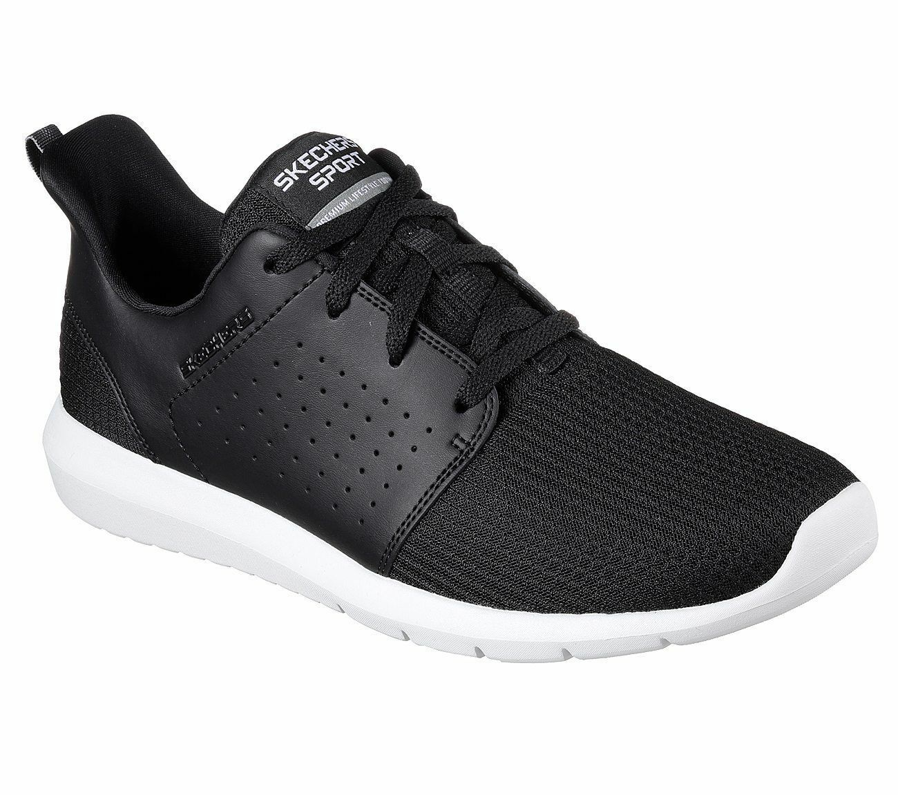 SKECHERS MENS FOREFLEX MEMORY FOAM WALKING SHOES 52390/BKW Cheap women's shoes women's shoes