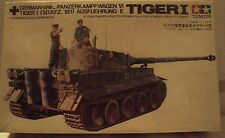 Tamiya 1/35 Panzerkampfwagen VI Tiger I MOTORIZED Germany WWII Kit #MT126 Sealed