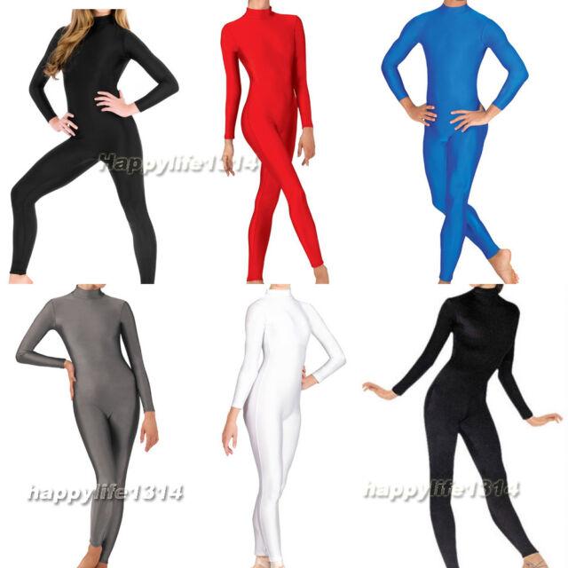 Kid Adult Round Neck Lycra Spandex Zentai Costume Bodysuit Catsuit Unitard