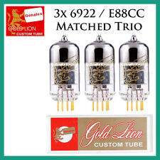 New 3x Genalex Gold Lion 6922 / E88CC / 6DJ8 | Matched Trio / Set / Three Tubes