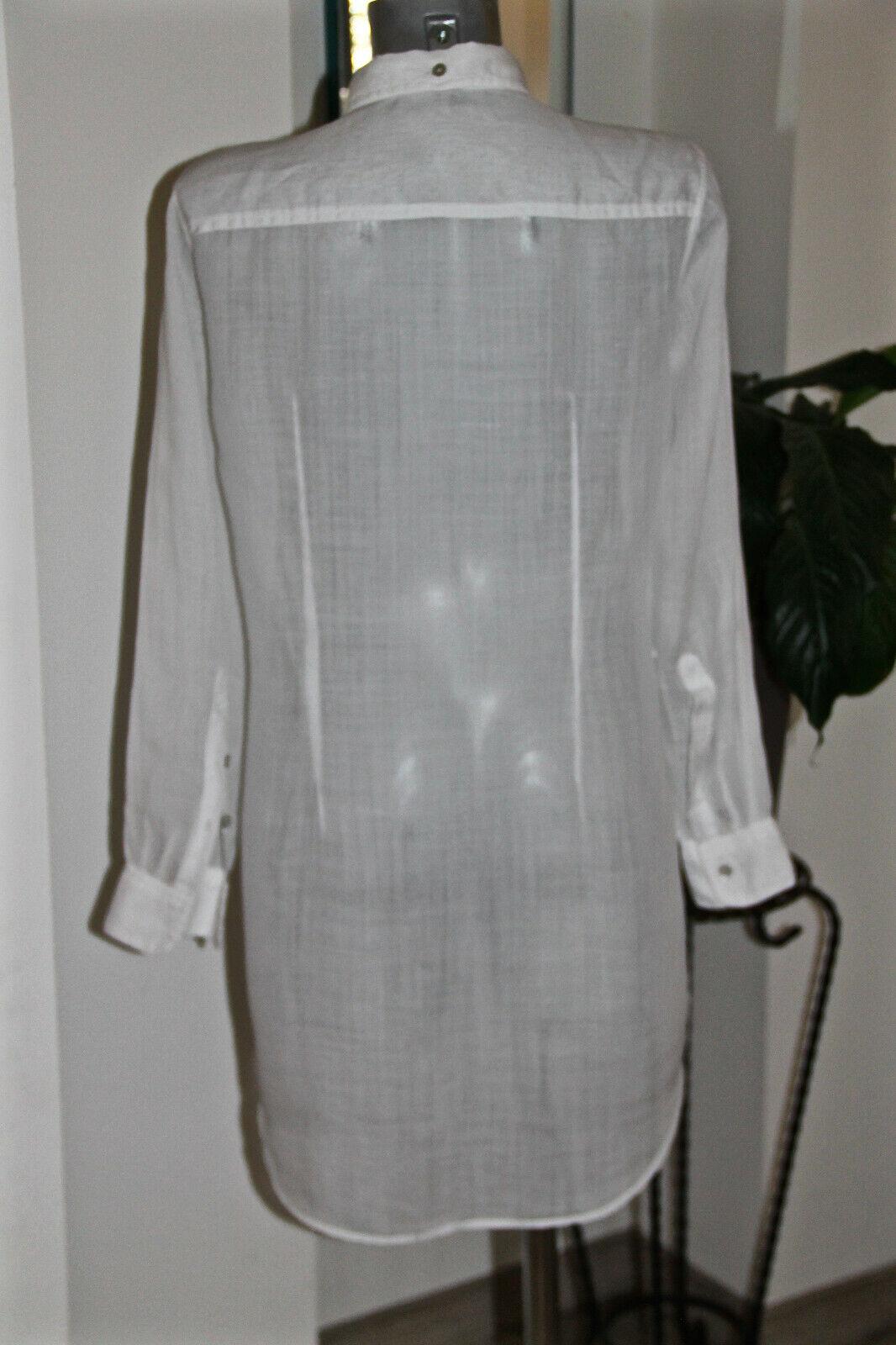 Pretty dress dress dress blouse 100% linen white HUGO BOSS orange size 38 fr 42i LIKE NEW 6f4444