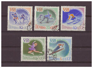 Sowjetunion-Olympische-Winterspiele-Squaw-Valley-MiNr-2317-2321-1960-used