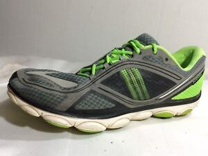 M Running Shoe Green Gray Black