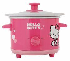 Hello Kitty Pink 1.5 Quart Ceramic Slow Cooker APP-41209 Dishwasher Safe NIB