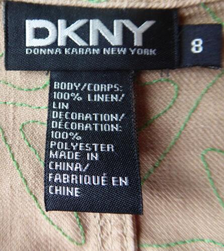linnen Uitstekende staat Prachtig Dkny geborduurde kralen jack Pvq8f