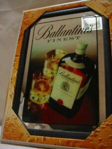 Ballantines Mirror BAR Pub Cellar BAR Licensed 20x30cm Scotch Whiskey