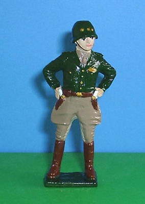 BBI 1//32 WWII Diecast Metal  Soldiers 4 Pc Figures Set With General Patton
