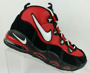 Nike-Air-Max-Uptempo-039-95-Men-039-s-Basketball-Shoes-CK0892-600-Red-White-Black