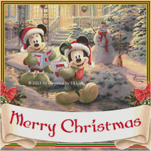 Details About Disney S Mickey And Minnie Mouse Merry Christmas Cross Stitch Pattern Cd