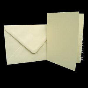 50-x-Luxury-Crafts-A6-Ivory-Card-Blanks-amp-C6-Envelopes