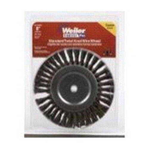 """Weiler Brush 36028 8/"""" Knot Wire Wheel Brush Twist 5//8/"""""""