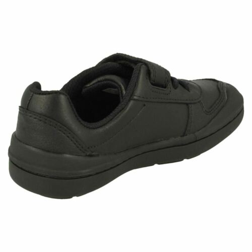 Hook Rock casual formali Scarpe Verve Boys Kids taglia Loop Leather Black Clarks xg6zqB