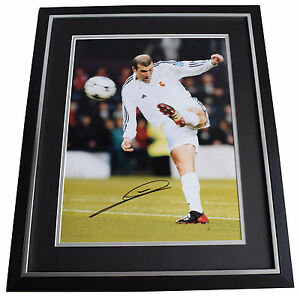 43a3c97b4 Image is loading Zinedine-Zidane-SIGNED-Framed-Photo-Autograph-Huge-display-