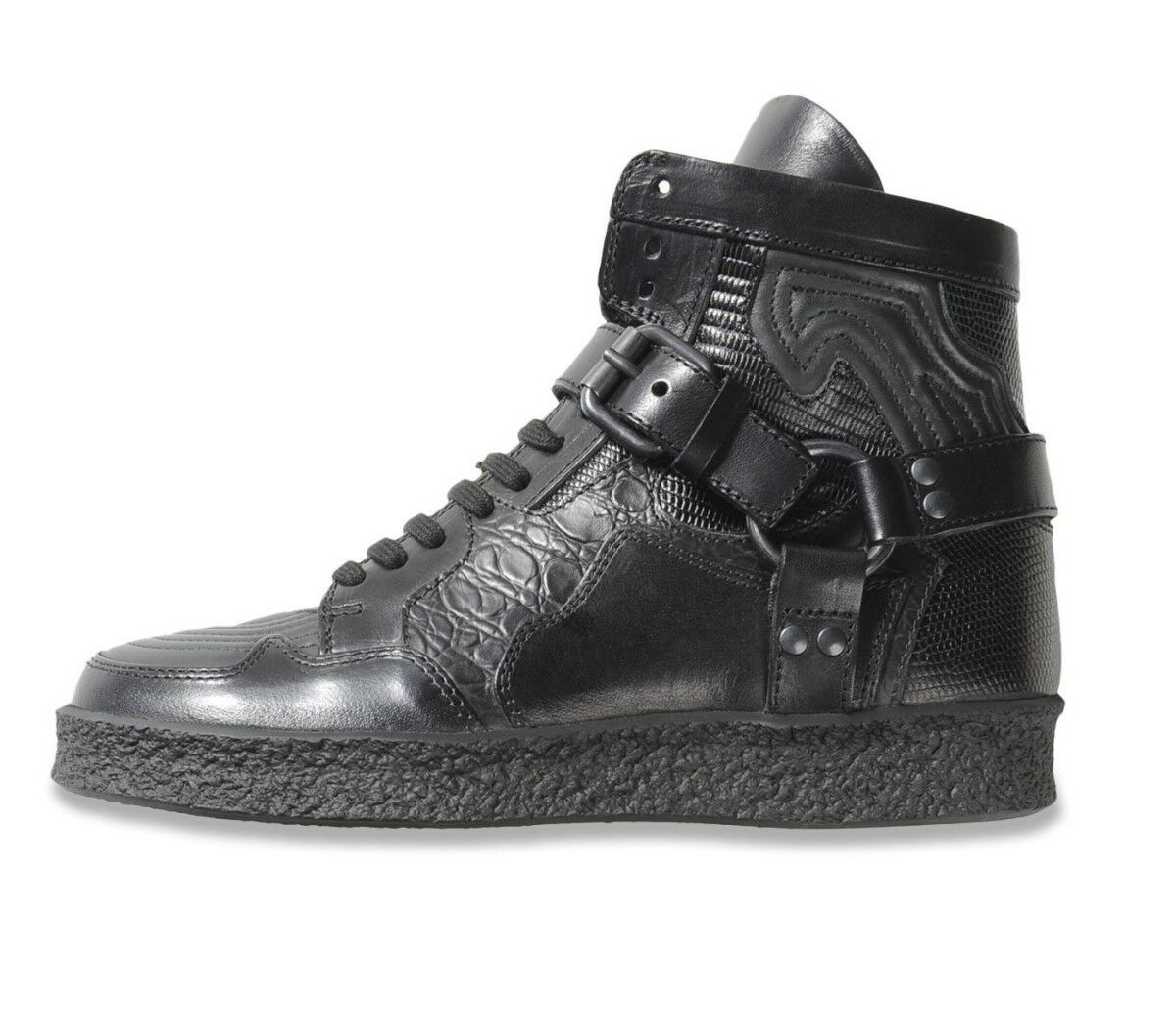 cd90c36db6 Diesel Black Gold Womens Hi High Top Leather Sneaker Shoes Boots RRP 380 €