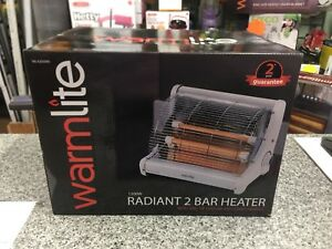 2000 W White Warmlite WL42008 Radiant 2 Bar Heater 2 Heat