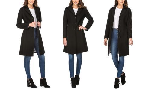 Uld Walker Størrelse Women's Sort Frakke Haute xxl Maxi Edition Blend nIqwaf