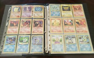 Pokemon-collection-binder-lot-Charizard-1st-edition-shadowless-holo-WOTC