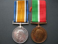 WWI Mercantile Marine and War medal pair to David S Craig WM renamed