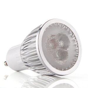 1X(GU10 3 LED Lamapra foco de alta potencia Regulable 6W Blanco calido 220-W7P5)