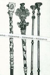 Herzogenaurach - Kerzenstangen in der Kirche - wohl um 1950 -   S 25-31