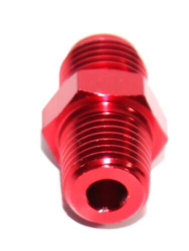 """RED 6AN AN-6 to 1//4/"""" NPT Male Thread Straight Aluminum Fitting Adapter"""