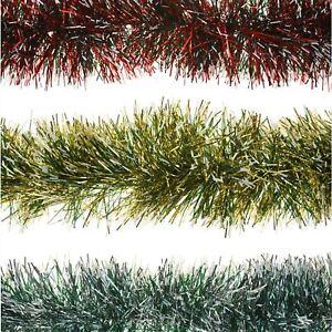 2m-6ply-spessore-Garland-NEVE-Punta-Decorazioni-Albero-di-Natale-Decorazione-Casa-Festa