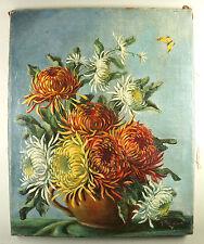Affascinante Natura morta con fiori, Olio tela, autografato, 42x52 cm Ö52)