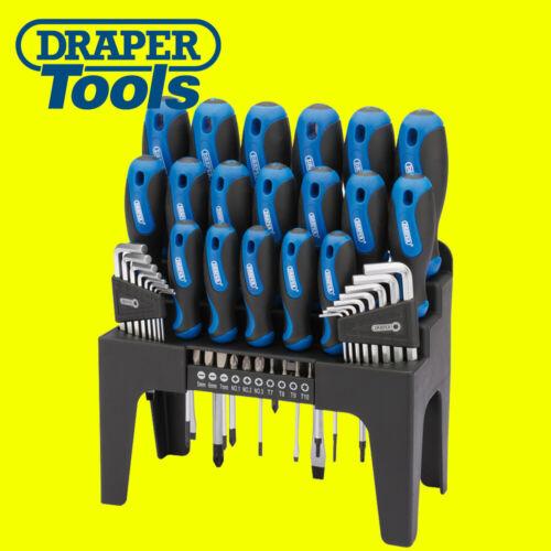 Draper 81294 Screwdriver Set with Storage Stand /& Allen//Hex Key /& Bit 44 Piece