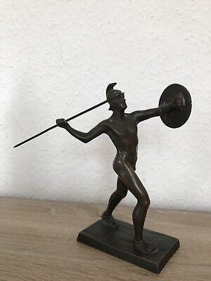 1862-1939 Signiert Krieger Der Antike Bronzeskulptur Obliging Ludwig GrÄfner