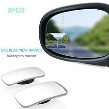 2pcs Slim Car Rear View Blind Spot Mirror 360° Glass Convex Wide View Angle