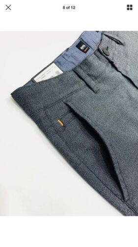 Hugo Boss Slim-fit trousers in overdyed melange stretch cotton RRP £119