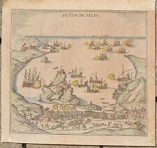 Penon de Velez de la Gomera,  Penon de Veles  - Braun Hogenberg  1585 Canaren