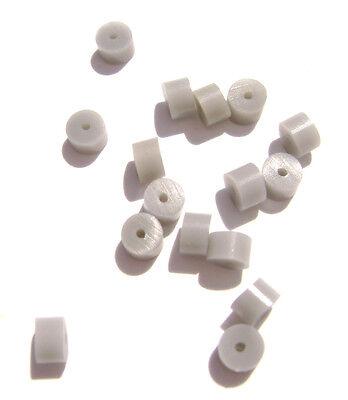 8113FD Rubber Grey Gray Safety Sleeve Stopper Earring Back Earnut Nut,  100 Qty