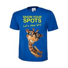 SHOW YOUR SPOTS TEE 10/% TO CHILDREN IN NEED CHARITY KIDS YELLOW T-SHIRT 4 SCHOOL