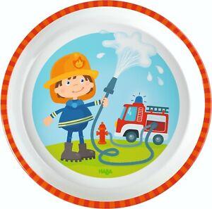 Dinette-Assiette-Melamin-Teller-Service-D-039-Incendie-Pompiers-Haba-303692
