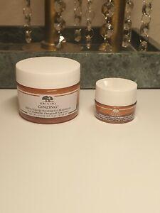 Origins GINZING Gel Moisturizer 1 oz 30 mL & Eye Cream 0.17 oz/ 5 mL Jar NWOB