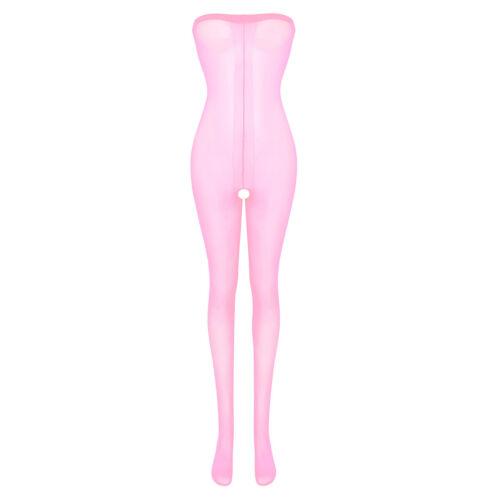 Womens Body Stocking Bodysuit Hollow Out Jumpsuit Lingeries Babydoll Nightwear
