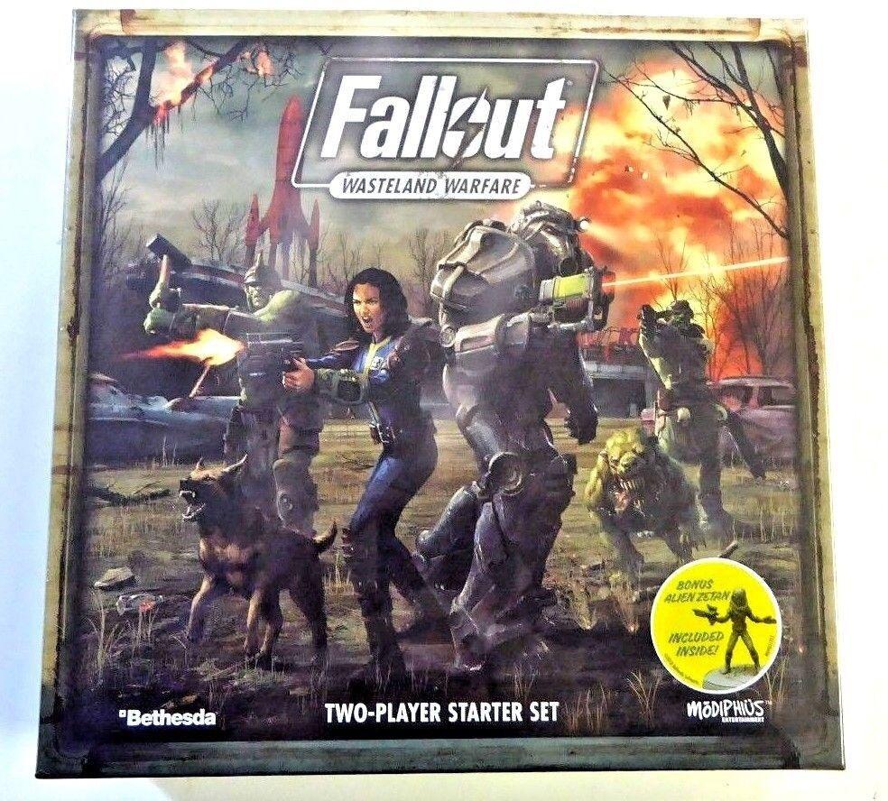 Fallout  tierra baldía guerra dos jugadores de arranque con Bono Alien Zetan modiphius Nuevo