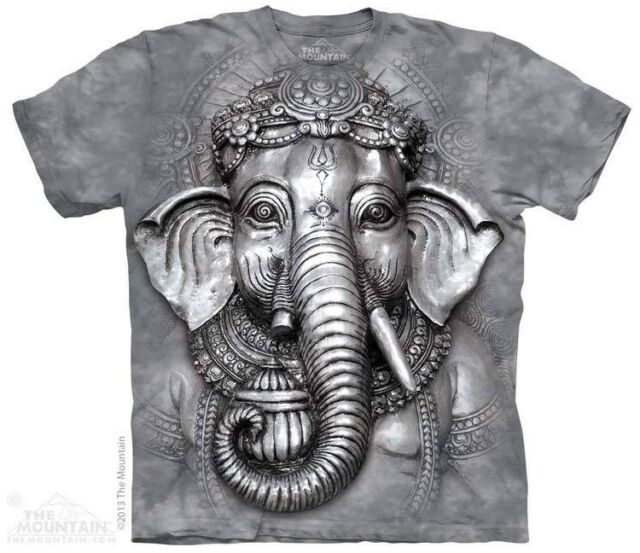 THE MOUNTAIN BIG FACE GANESH HINDU SPIRITUAL ELEPHANT HEAD T TEE SHIRT S-5XL