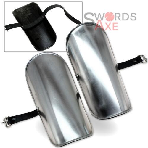 Essential Steel Plate Greaves Set Leg /& Shin Armor Medieval Knight 18G
