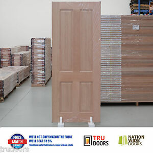4 Panel Traditional French Solid Timber Doors Hardwood Internal ...