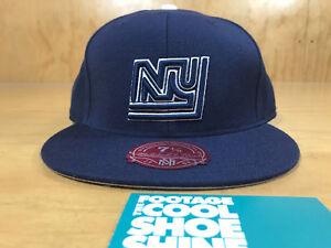 95dc3d61b MITCHELL & NESS NFL NEW YORK NY GIANTS LOGO FITTED HAT DARK NAVY ...